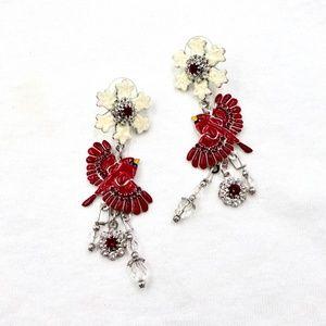 LUNCH AT THE RITZ Snow Bird Earrings Latr 2 Go